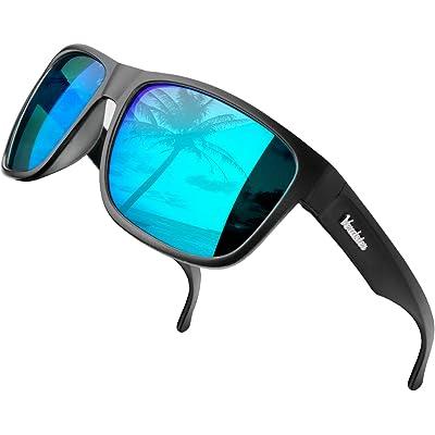 Verdster Islander – Gafas de Sol Polarizadas de Espejo Extra Grandes para Hombre – Gafas de Sol Grandes a la Moda – Accesorios Incluidos
