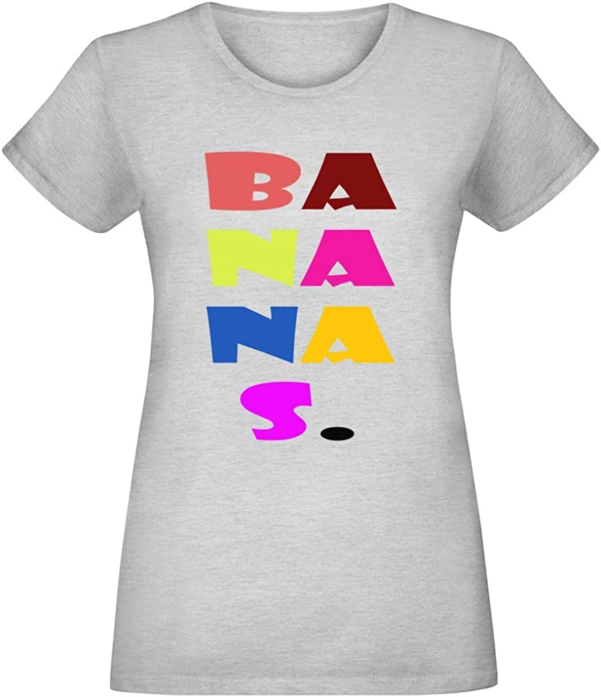 Harma Art Plátanos. - Bananas. T-Shirt Top Short Sleeve Jersey For Women 100% Soft Cotton Womens Clothing Large: Amazon.es: Ropa y accesorios