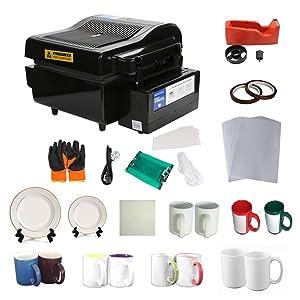 3D Vacuum Heat Press Machine Sublimation Transfer Mug Plate Tile T-shirt CISS Tape Printing Business