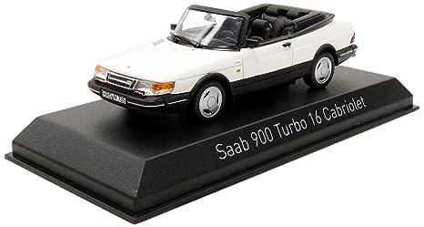 Norev 900 Turbo 16 Cabriolet 1992 Saab vehículo en Miniatura, 810043, Blanco, (