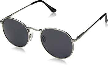 019b4ff947 A.J. Morgan Bradley Round Sunglasses Silver 50 mm