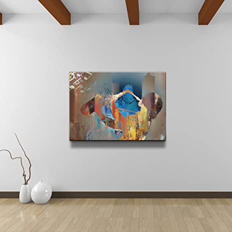Ready2HangArt Alexis Bueno U0026quot;The Color Of Jazz Vu0026quot; Oversized Canvas  Wall Art