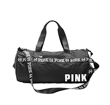 Amazon Victorias Secret Black PINK University Duffle Bag