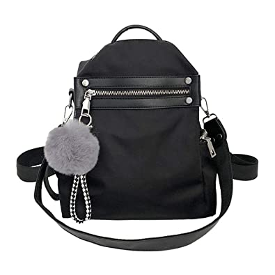 Backpacks Teenage Travel Double Shoulder Casual Backpacks Rucksack Mochilas,Black,11 Inches
