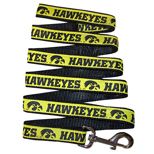 (Pets First Collegiate Pet Accessories, Dog Leash, Iowa Hawkeyes, Large )