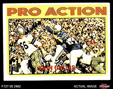 585e2cdd3 1972 Topps   251 Pro Action Johnny Unitas Baltimore Colts (Football Card)  Dean s Cards
