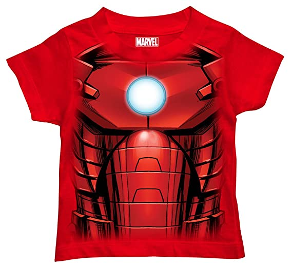 09486545 Marvel Little Boys' Toddler Iron Man T-Shirt, Mesh Face Red, ...