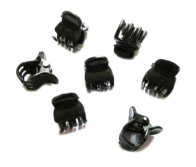 "12 Pcs 1.1/"" Long Black Plastic Mini Hairpin 10 Claws Hair Clip Clamp for La C7S9"