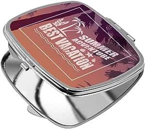 مرآة جيب، بتصميم افضل عطلة ، شكل مربع