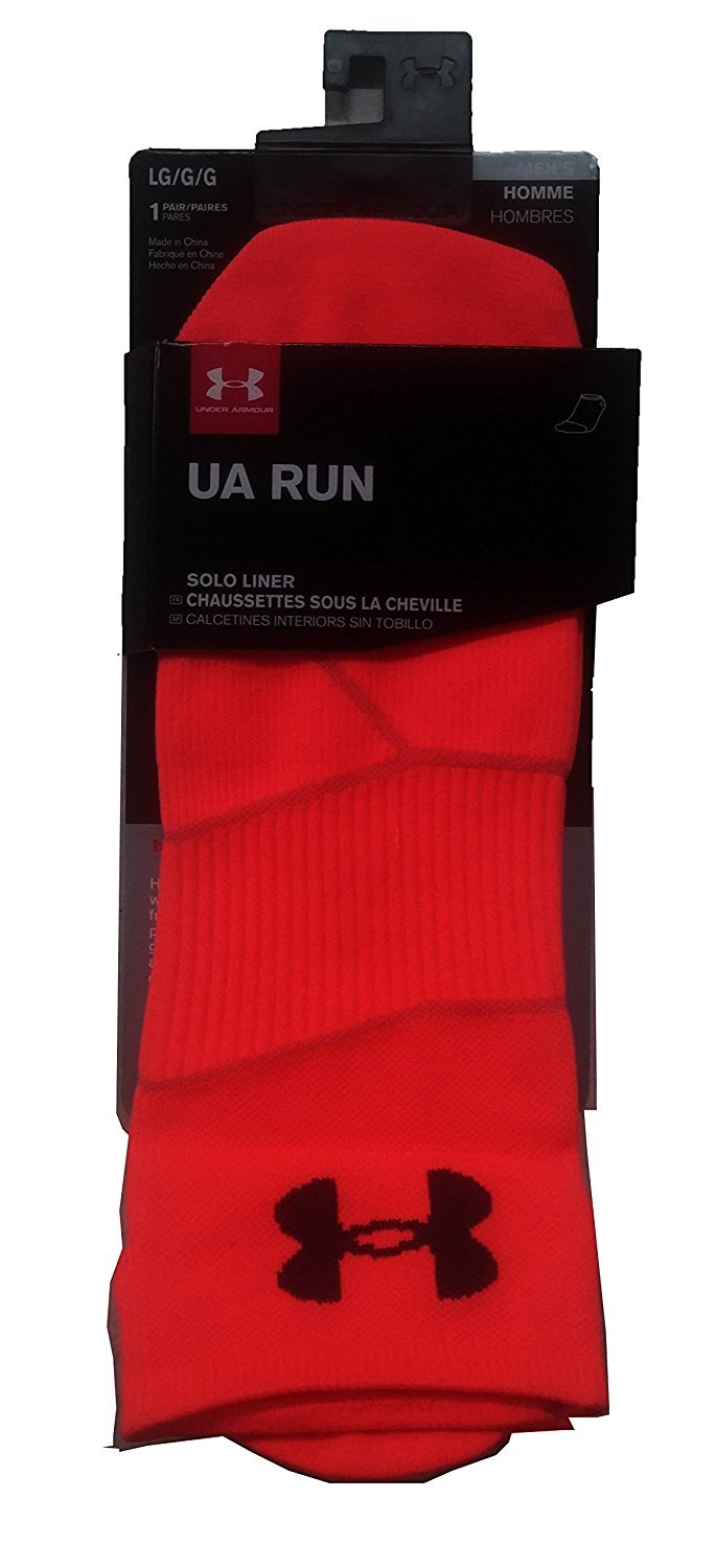 Amazon.com: Under Armour Mens UA Run Solo Liner Socks (Large, Orange): Sports & Outdoors