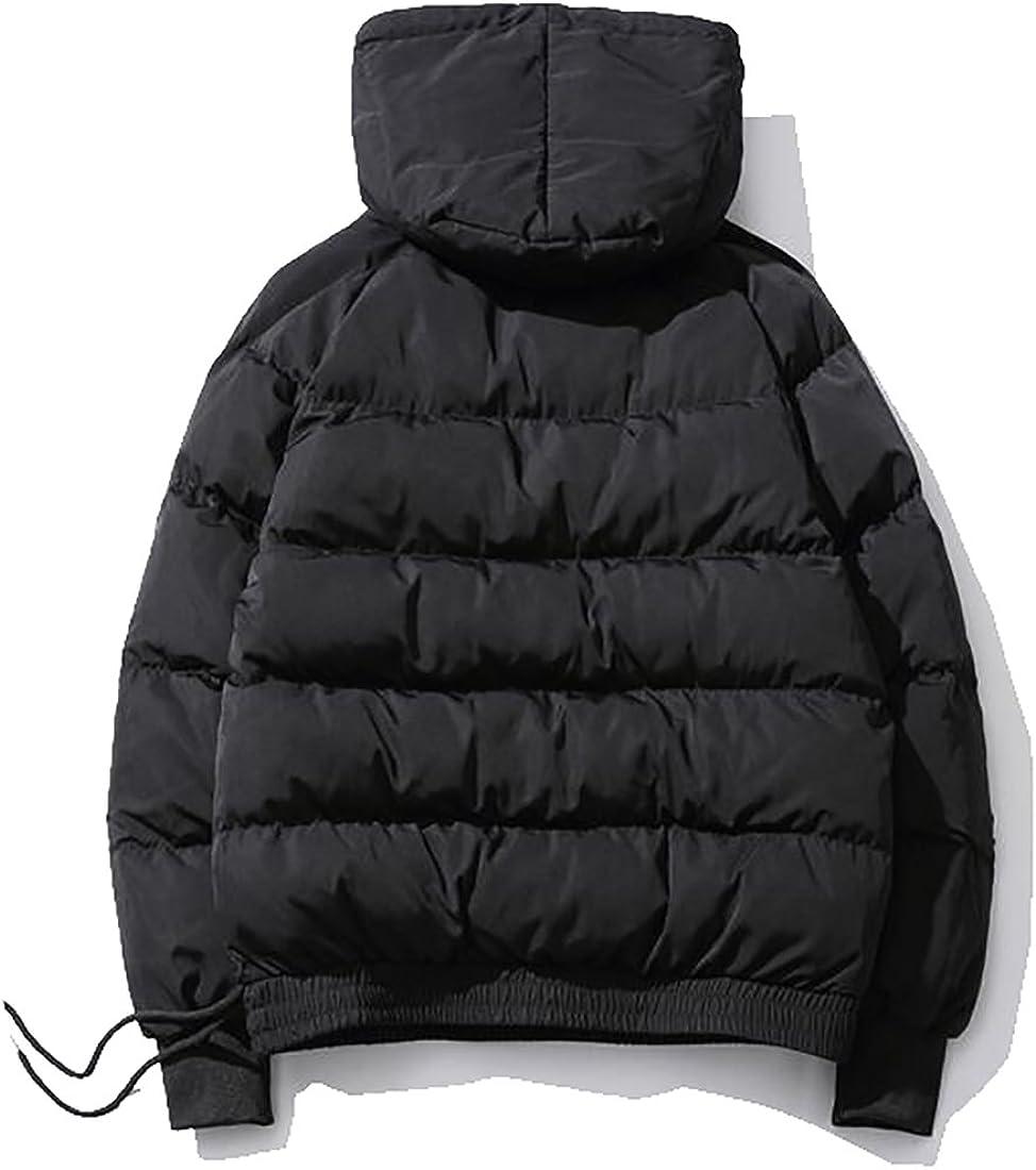 xtsrkbg Mens Cotton Hooded Winter Zipper Hooded Outwear
