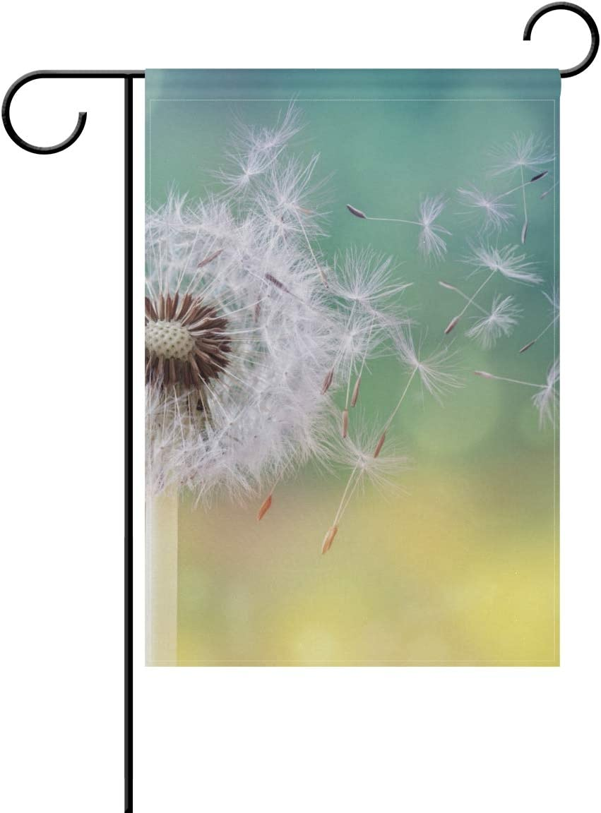 Garden Flag Dandelion Double Sided Printing Outdoor Decorative Farmhouse Yard Flag for Seasons and Holidays 28 x 40 Inch