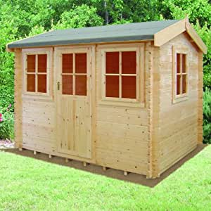 Shire 12ft x 12ft (3.59m x 3.59m) Hemsted 44mm Log Cabin