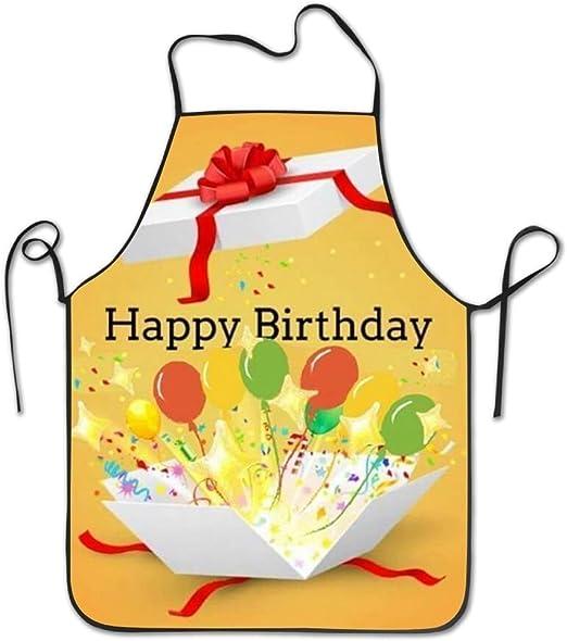 Happy Birthday Aprons For Women Men Gag Gift Bbq Waist Kitchen Towel Funny Chef Apron Amazon Co Uk Kitchen Home