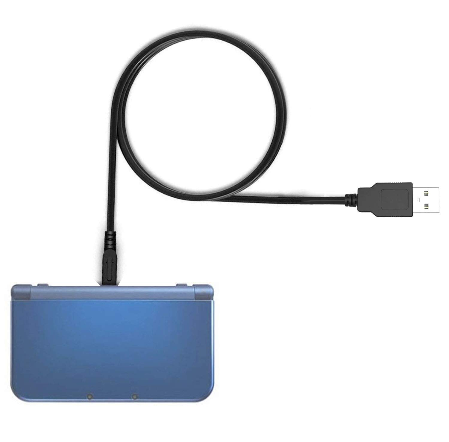 USB Charge Cable Compatible for New Nintendo 2DS XL/New Nintendo 3DS/ New Nintendo 3DS XL/Nintendo 2DS/ Nintendo 3DS XL/Nintendo 3DS/Nintendo DSi XL/Nintendo DSi(4FT Black)