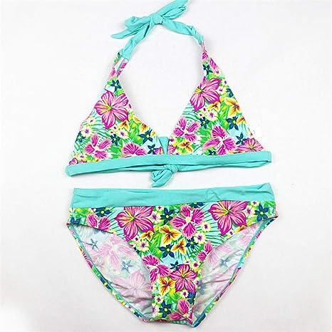 Jeesunomic Traje de baño a Rayas para niñas, Bikini para ...