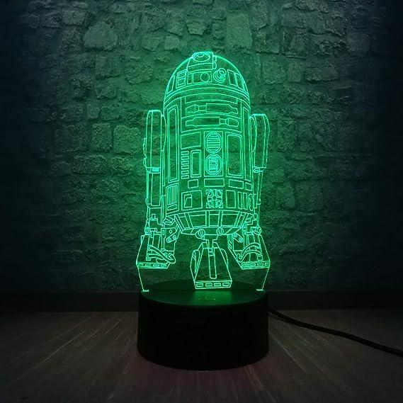 wangZJ 3d Kids Night Lamp/led Usb Night Light / 7 colores ...