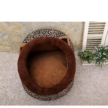 635 Cama para Perros Dibujos Animados Estilo Nido Mascotas Invierno Espesa casa de Gato de Perro Caliente (Brown 46 * 39 * 26 cm): Amazon.es: Hogar