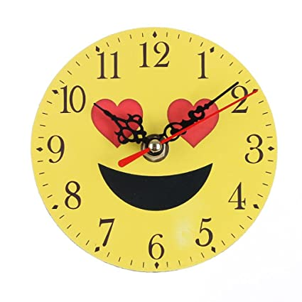Buy Zolimx B: Silent Sweep Wall Clock, Emoji Emoticon Bell