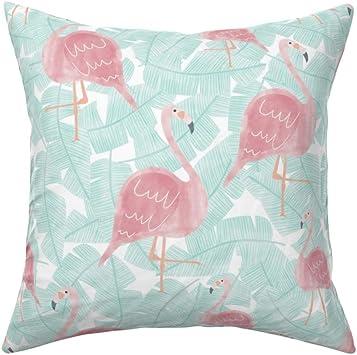 "16/"" white cushion cover Shabby//Chic//Nursery Beautiful Personalised Flamingo"