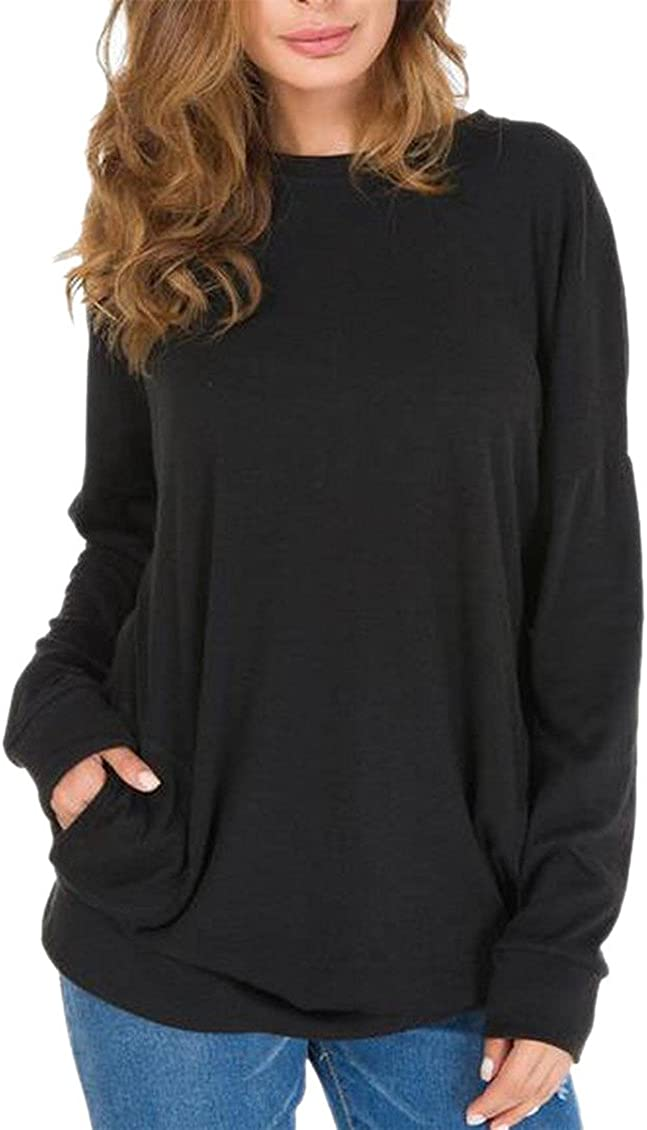 M/&S/&W Womens Casual Long Sleeve Round Neck Sweatshirt Tunics Blouses Tops
