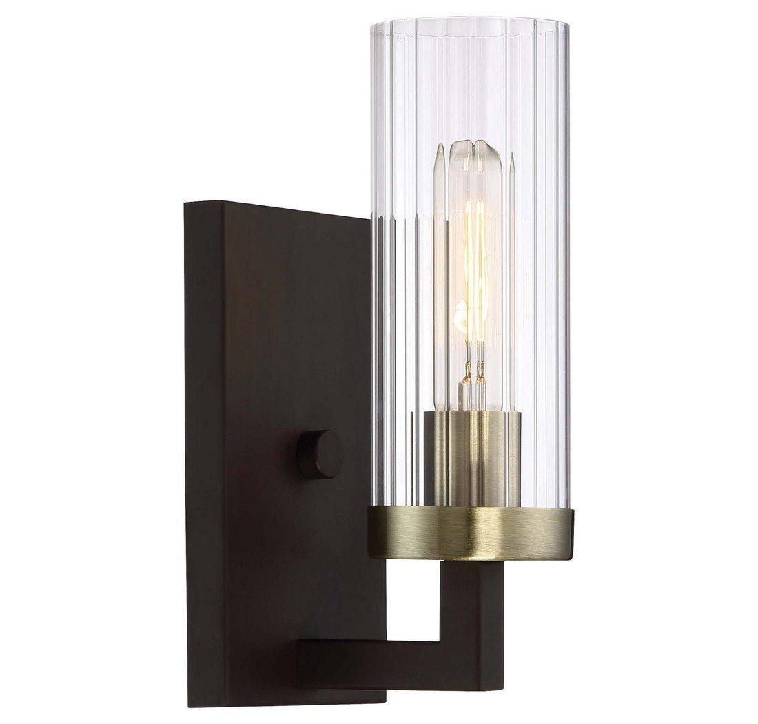 Minka Lavery Wall Sconce Lighting 3041-560 Ainsley Court Wall Lamp Fixture, 1-Light 60 Watts, Bronze