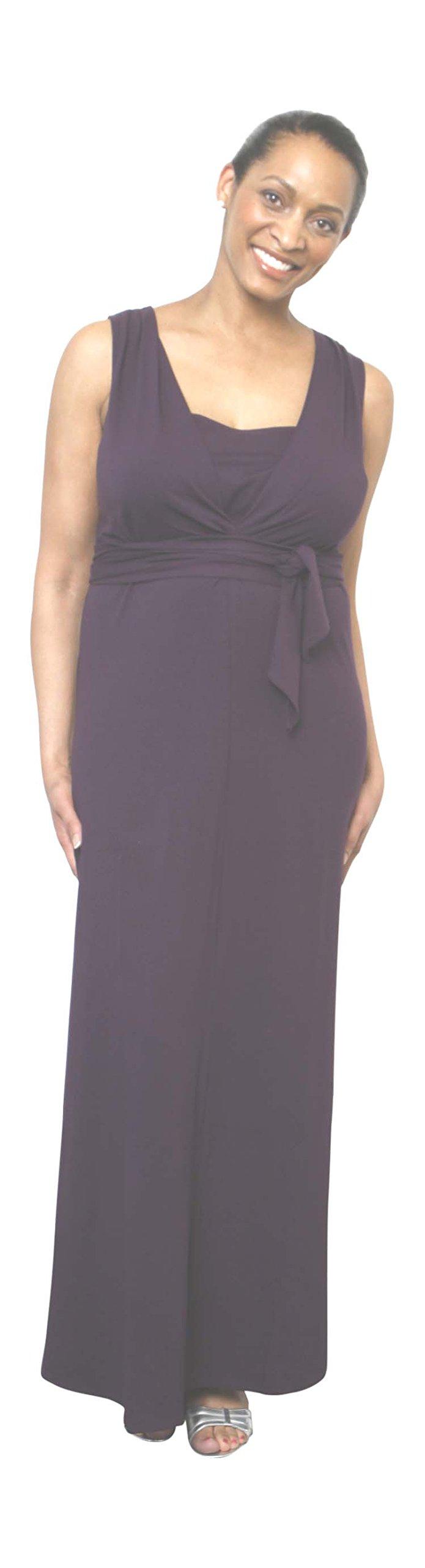 HadleyStilwell Jet Set Nursing Maxi Dress (Medium, Crocus)