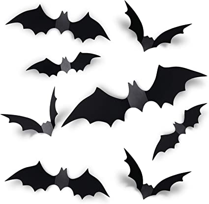 Halloween 2020 Wall Stickers Amazon.com: Coogam 60PCS Halloween 3D Bats Decoration 2020
