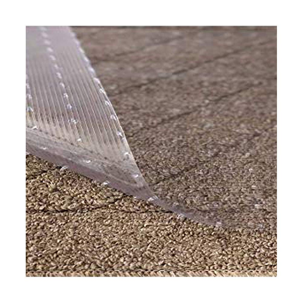 Resilia - Clear Vinyl Plastic Floor Runner/Protector for Deep Pile Carpet - Non-Skid Decorative Pattern, (36 Inches Wide x 6 Feet Long)