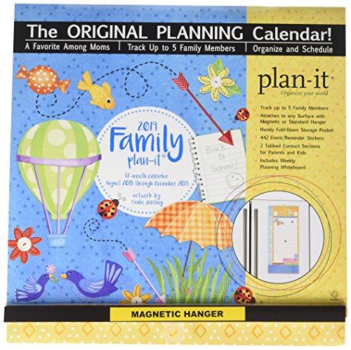 Family Plan-It 17-Month 2019 Calendar (Family Plan It Calendar)
