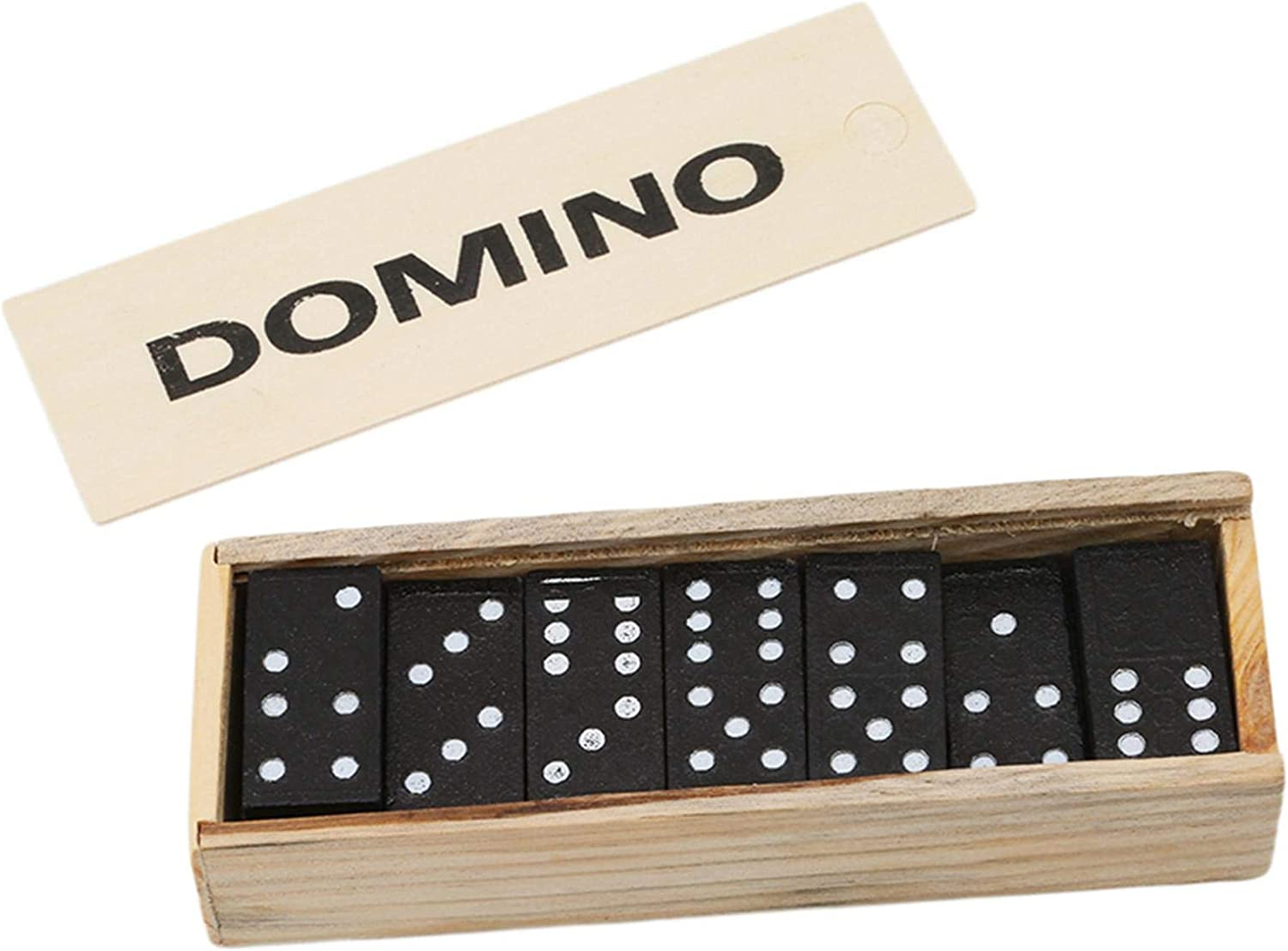 chinejaper Dominoes Set Classic Wooden Board Game Teaching Aids With Wooden Box High Standard Domino Child And Adults Game