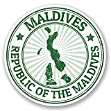 2 x Maldives Travel Luggage Stickers