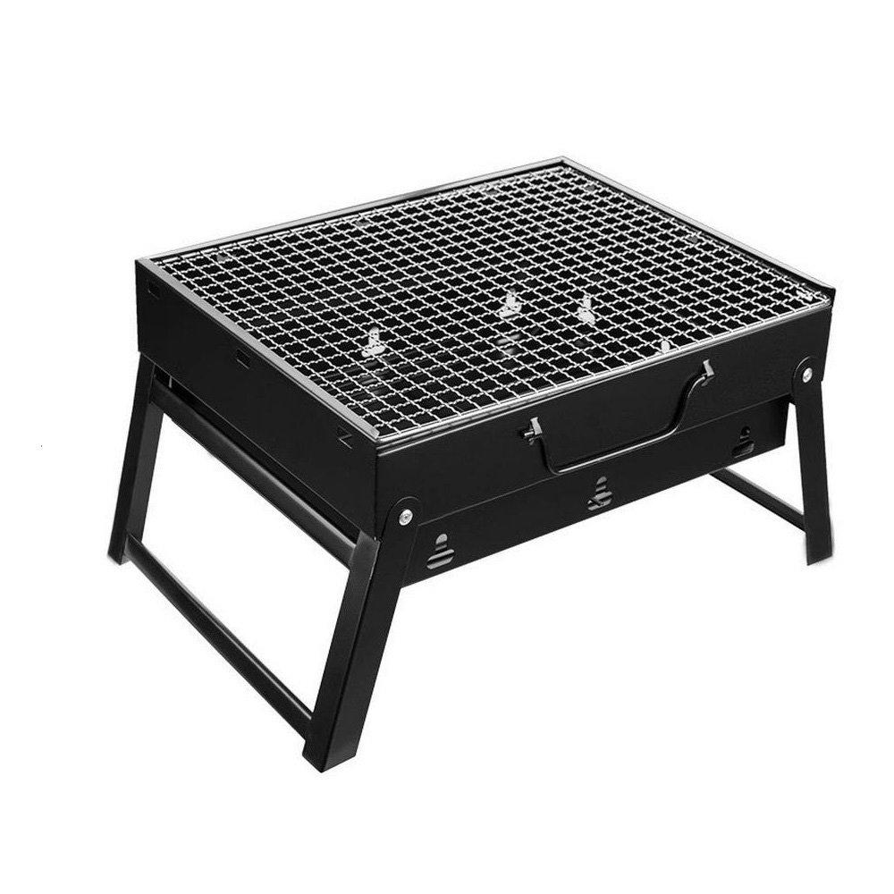 Coosa Stainless Steel Portable Folding Barbecue Grill Portable Charcoal Barbecue Table Camping Outdoor Garden Grill BBQ Utensil