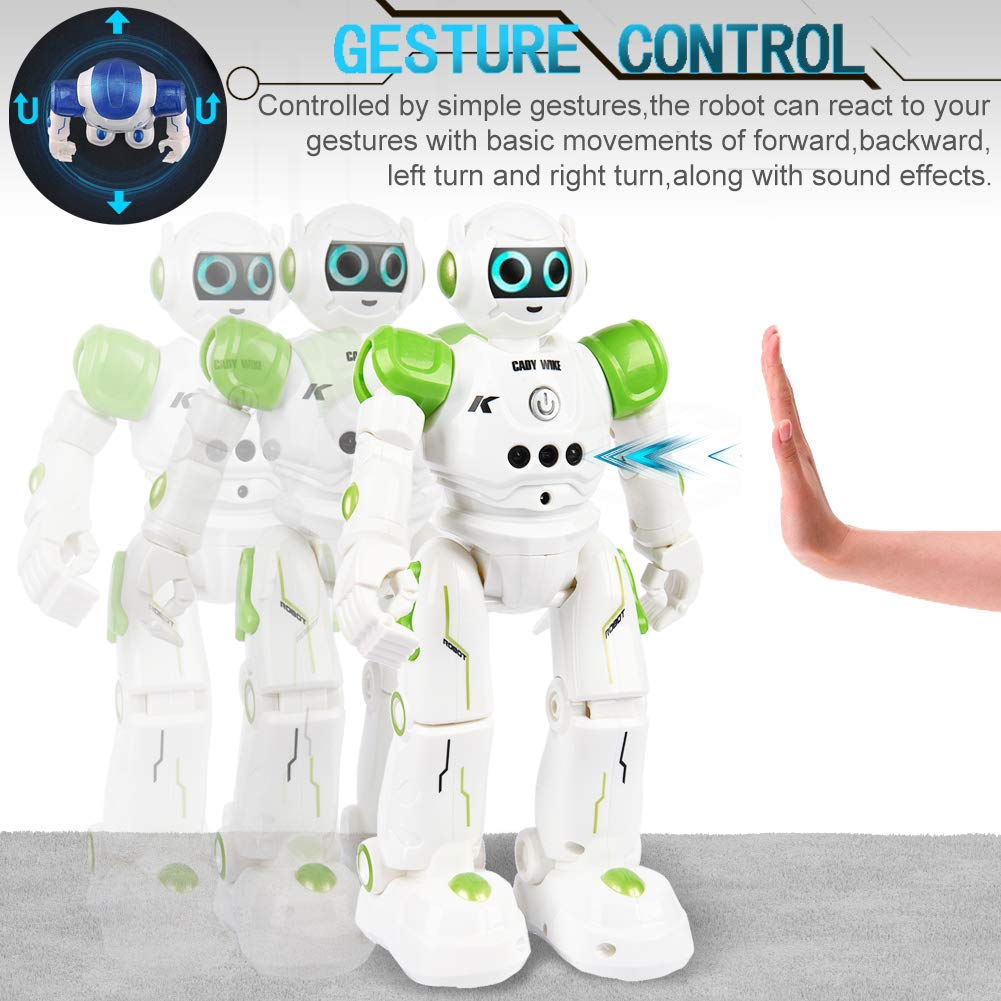 Yoego Remote Control Robot, Gesture Control Robot Toy for Kids, Smart Robot with Learning Music Programmable Walking Dancing Singing, Rechargeable Gesture Sensing Rc Robot Kit (Green) by Yoego (Image #4)