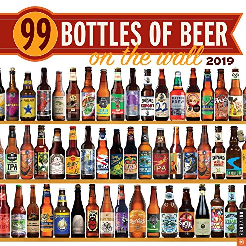 99 Bottles of Beer on the Wall 2019 Wall Calendar by Universe Publishing
