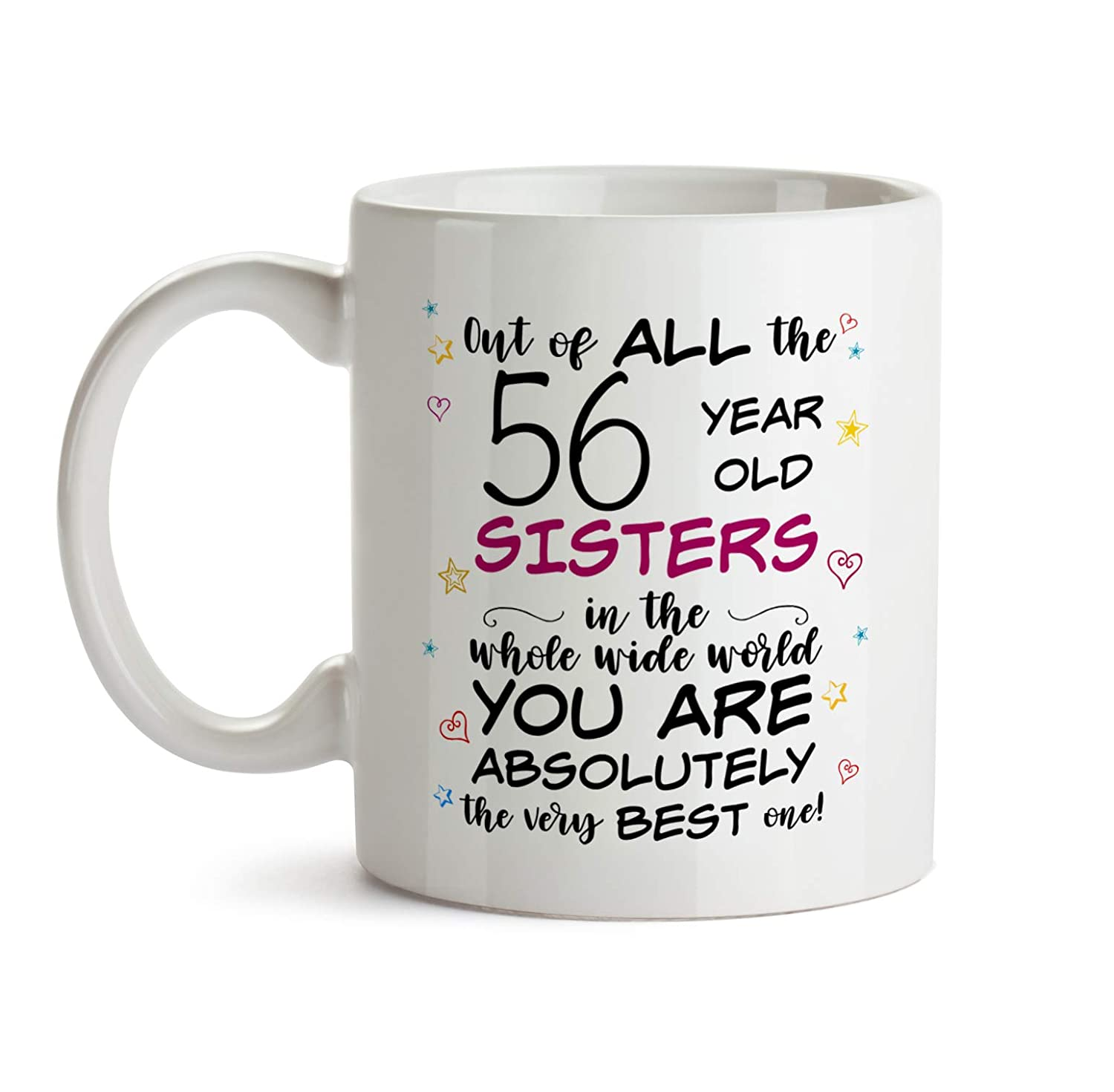 56th Sister Birthday Gift Mug