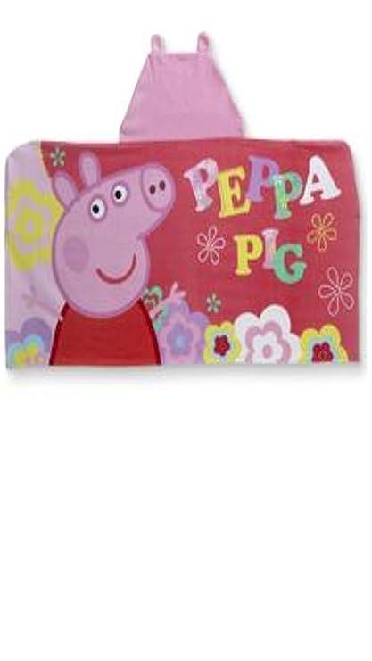 Peppa Pig – Toalla de baño con capucha, para baño, ducha, piscina,