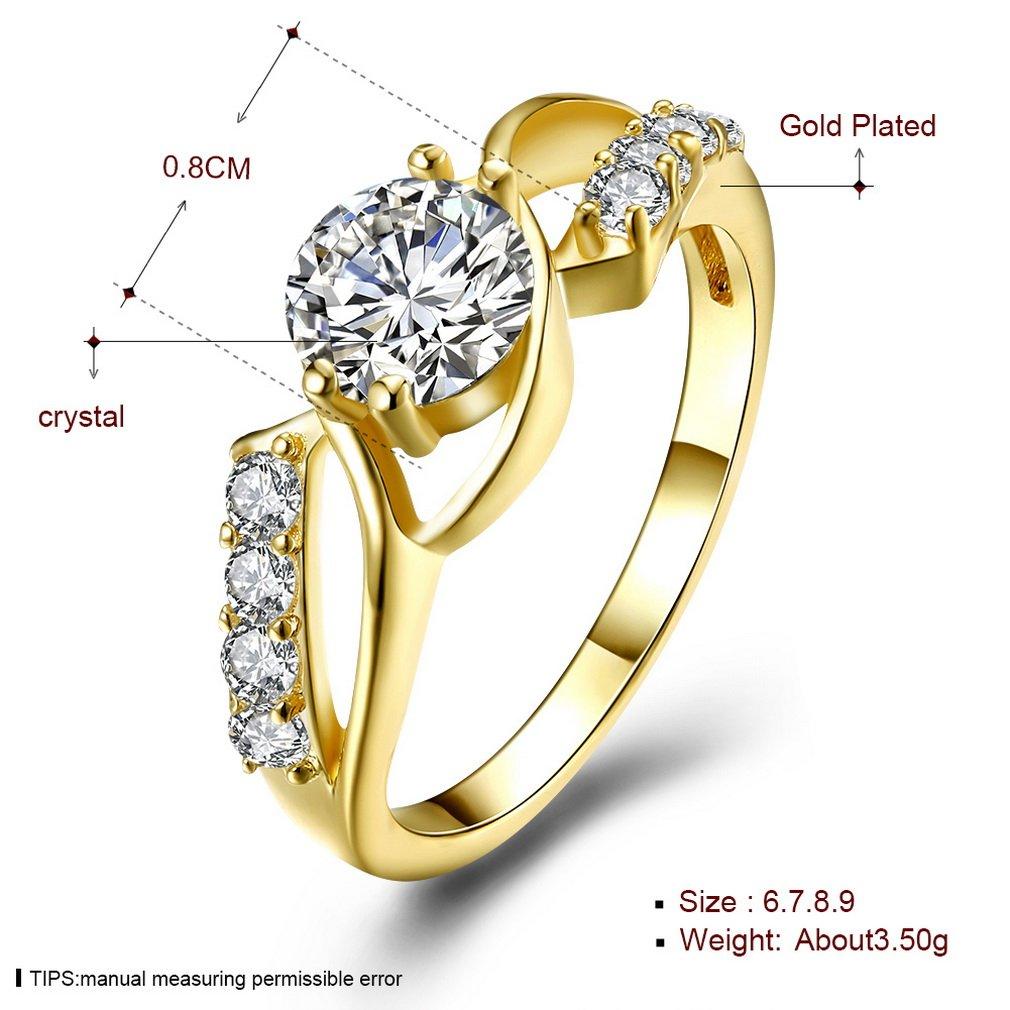 YAZILIND 18 k chapado en oro mujer joyer/¨/ªa exquisita ronda pendientes aro abrazos para mujeres cubic zirconia cristal joyas de la boda
