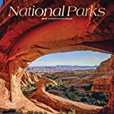 National Parks 2019 7 x 7 Inch Monthly Mini Wall Calendar with Foil Stamped Cover, USA United States of America Scenic Nature