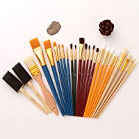 25 Pieces Paint Brush Set, used for Acrylic Watercolor Painting,Watercolor Gouache Oil Painting,Adult Kids Drawing Arts…