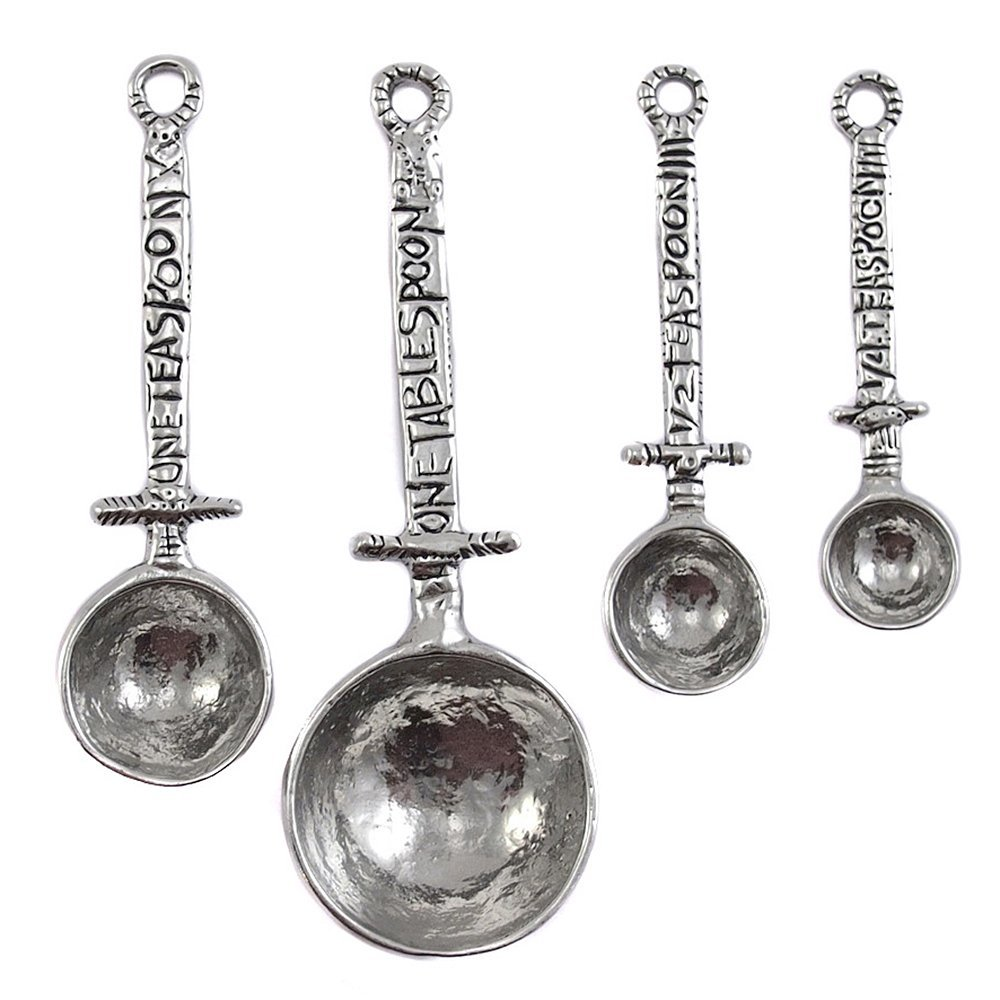 Crosby & Taylor Celtic Pewter Measuring Spoon Set by Crosby & Taylor
