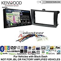 Volunteer Audio Kenwood Excelon DNX994S Double Din Radio Install Kit with GPS Navigation Apple CarPlay Android Auto Fits 2009-2013 Non Amplified Toyota Corolla