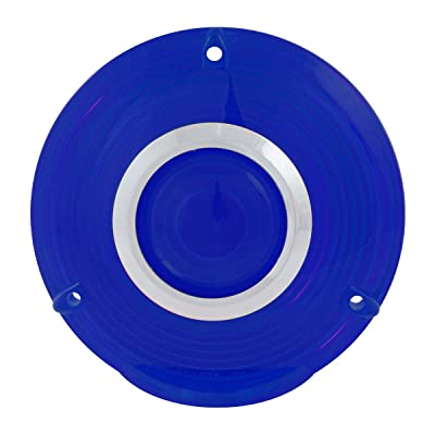 GG Grand General 86721 4 inches 3 Screw Blue Plastic Lens w/Cr. Rim: Automotive