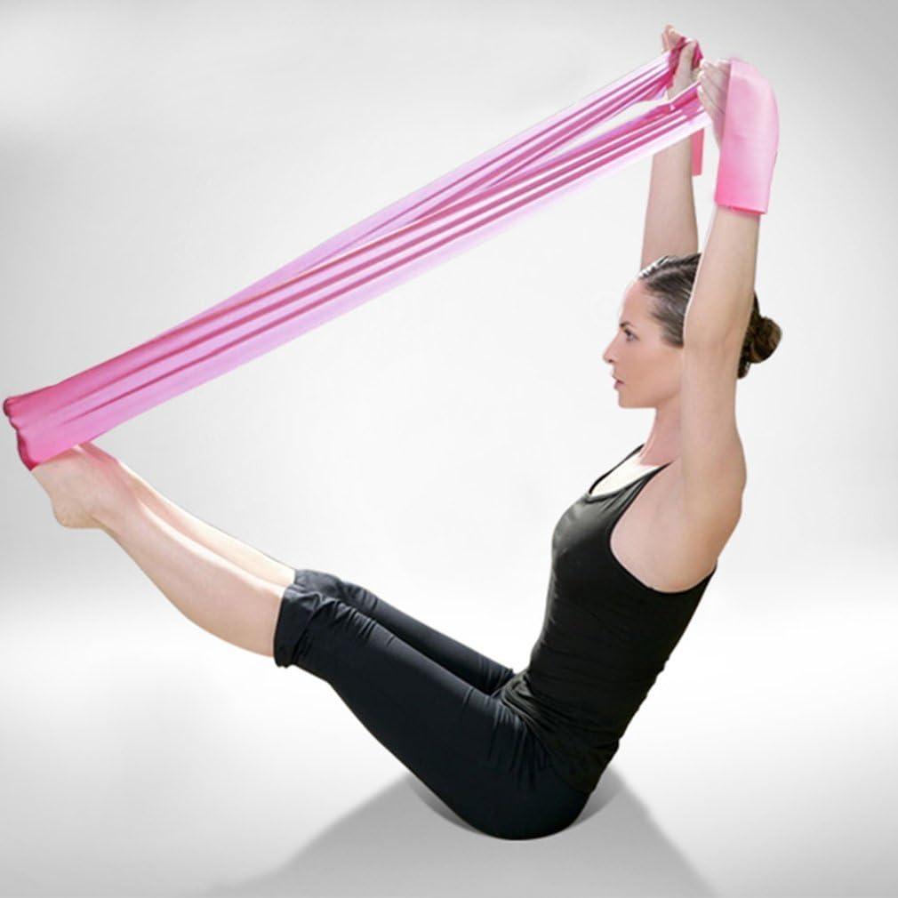 Ndier 1.2/m Yoga Pilates en Caoutchouc /élastique Stretch Bande dexercice Bras arri/ère Jambe Fitness Rose