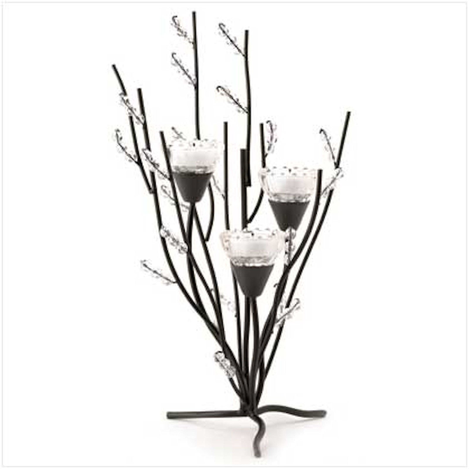 2 Crystal Tree Tealight Holder Candle Stands Table Centerpiece
