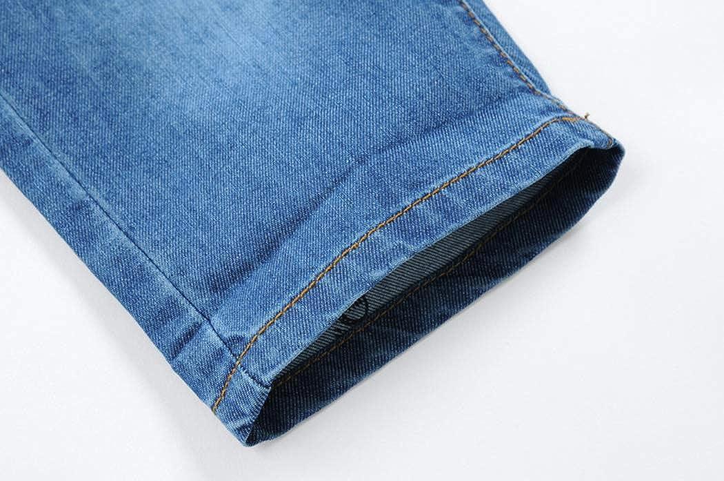 YoungSoul Pantalones Cortos Vaqueros ni/ño Bermudas Jeans con Cintura el/ástica Shorts de Mezclilla con Vuelta en el bajo