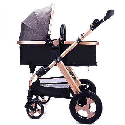 Littlefairy Sillas de Paseo,Peso Ligero y Alta Vista Cochecito Pueden reclinable Plegable Carrito Infantil