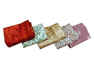 Vintage sari gran cantidad de 5 seda del arte tejido cortina drapeado multicolor al por mayor