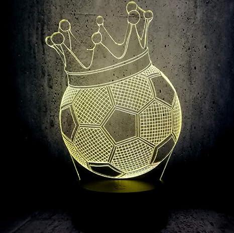 2019 Balón De Fútbol Creativo Corona Imperial Trono Lámpara Led 3D ...