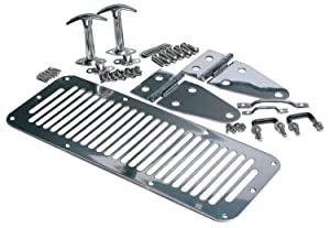 RAMPAGE PRODUCTS 7699 Stainless Complete Hood Kit for 1978-1995 Jeep CJ & Wrangler YJ